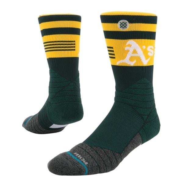 NWT Men's Oakland A's Stance Socks